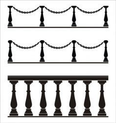 Architectural element balustrade fence chain vector