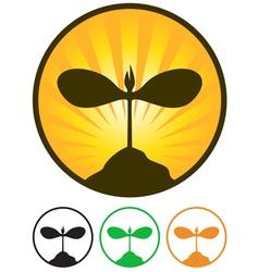 Sprout emblem vector