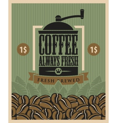 Coffee fresh vector