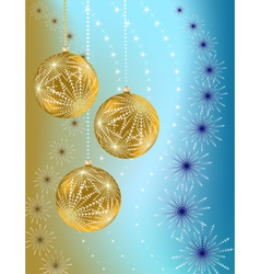 Christmas balls on gradient background vector
