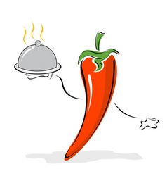 Cartoon pepper chef vector
