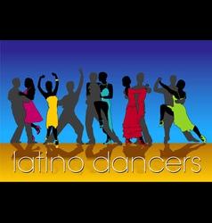 Latino dancers vector