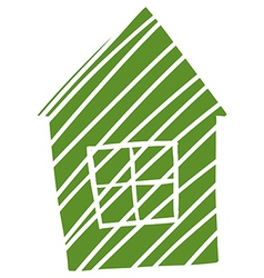 A sketch of a small house vector