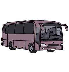 Violet bus vector