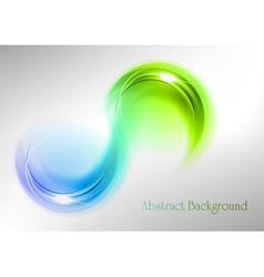 Abstract shape smoke double white blue green vector