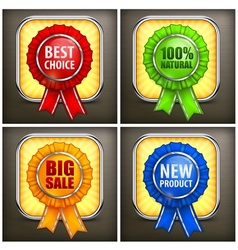 Set of color award labels on vector