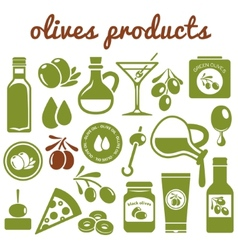 Olives icons vector