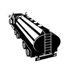 Fuel tanker truck retro vector