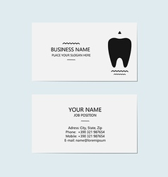 Business card for a dentist vector