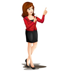 An office girl vector