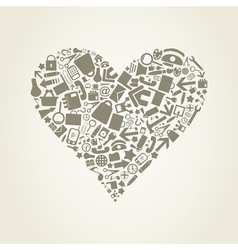 Heart office vector