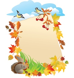 Frame with autumn leafs vector