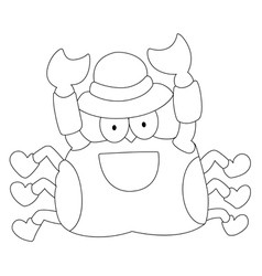 Crab on a white background vector