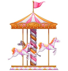 A colourful merry-go-round vector