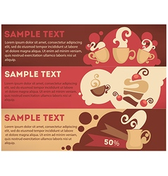 Coffee and cake banners vector