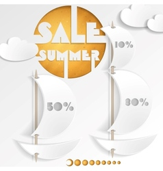 Summer sale business background vector