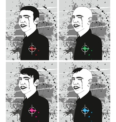 Man haircut face set vector