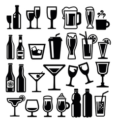 Beverages icon vector