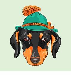 Hipster dog dachshund vector