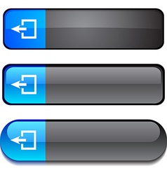 Exit button set vector