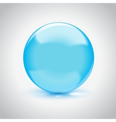 3d empty glass sphere vector