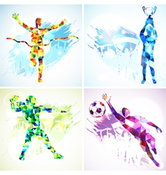 Set sport silhouettes vector
