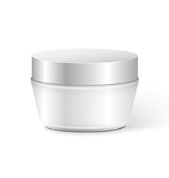 Blank cosmetic container for cream powder or gel vector