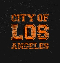 City of los angeles - artwork for wear in custom vector