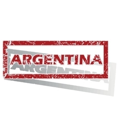 Argentina outlined stamp vector