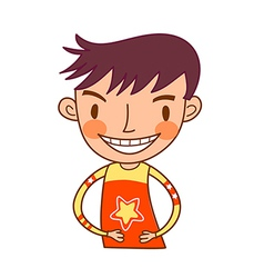 Close-up of boy smiling vector