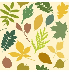 Seamless pattern with leaves silhouettes vector
