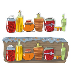 Homemade jam and spices vector
