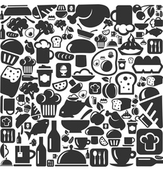 Meal a background vector