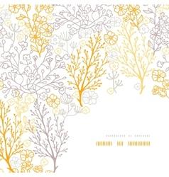 Magical floral corner frame pattern background vector