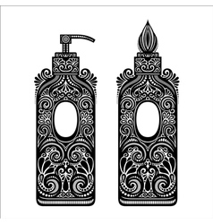 Vintage ornate soap dispenser vector