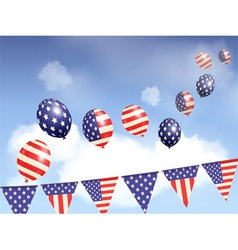 Indepence day balloons and sky vector