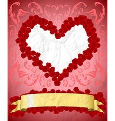 Vintage valentines day card vector