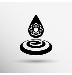 Water molecule water chemistry atom symbol icon vector