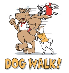 Dog walk vector