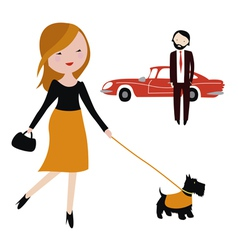 Couple in the city vector