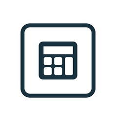 Calculator icon rounded squares button vector