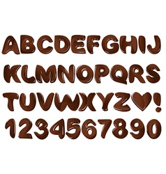 Chocolate alphabet vector