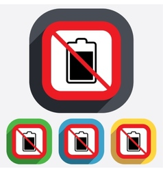 No battery level sign icon electricity symbol vector