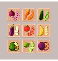 Delicious vegetables vector