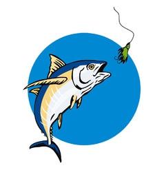 Albacore tuna fish retro vector