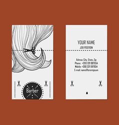 Business card hairdresser barber 2 vector