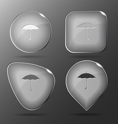 Umbrella glass buttons vector