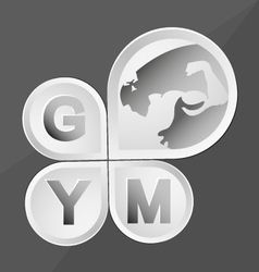 Body building and fitness vector
