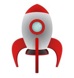 Cartoon rocket vector