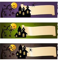 Halloween banners vector